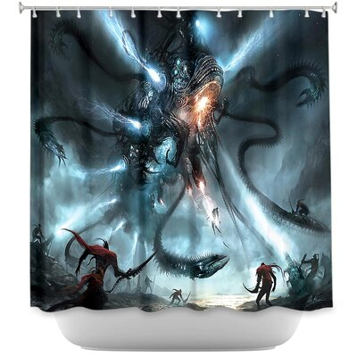Mech Dragon Battle Shower Curtain