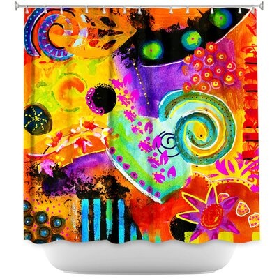 Crazy Abstract I Shower Curtain