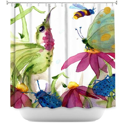 Calliope Coneflower Shower Curtain