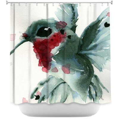 Christmas Hummingbirds II Shower Curtain