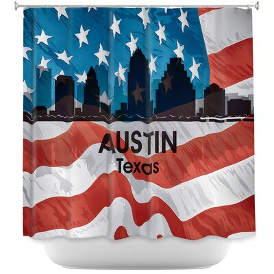 City VI Austin Texas Shower Curtain