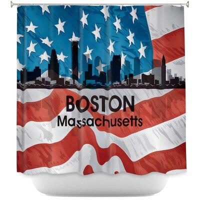 City VI Boston Massachusetts Shower Curtain