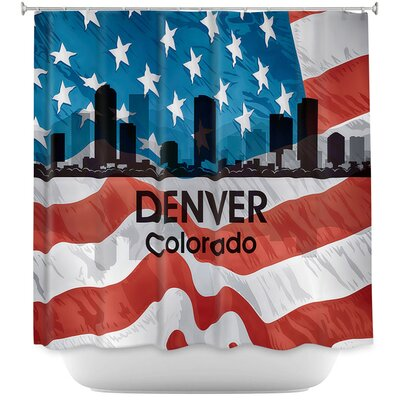 City VI Denver Colorado Shower Curtain