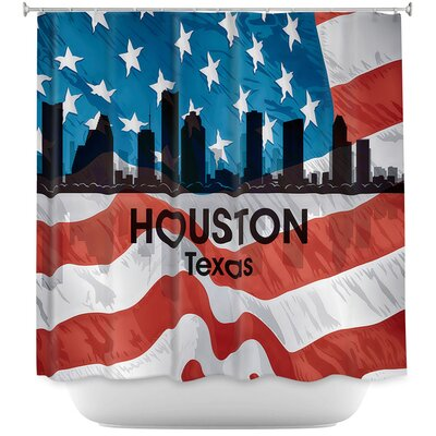 City VI Houston Texas Shower Curtain