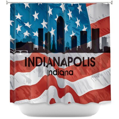 City VI Indianapolis Indiana Shower Curtain
