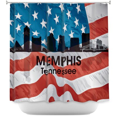 City VI Memphis Tennessee Shower Curtain