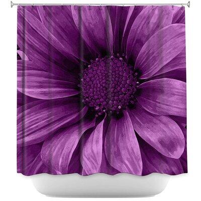 Daisy Grape Shower Curtain Color: Purple
