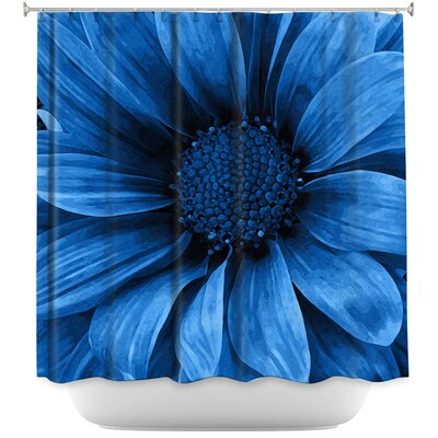 Daisy Grape Shower Curtain Color: Blue