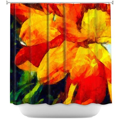 Dancing Daisy 4 Shower Curtain