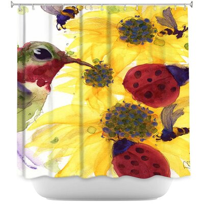 Sunflowers Ladybugs Shower Curtain