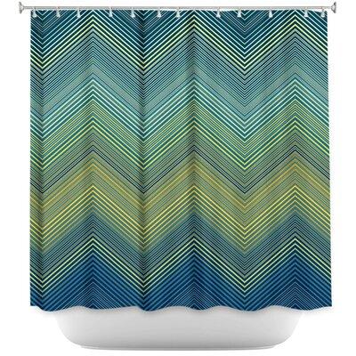 Hanneman Teling Zig Zag Shower Curtain