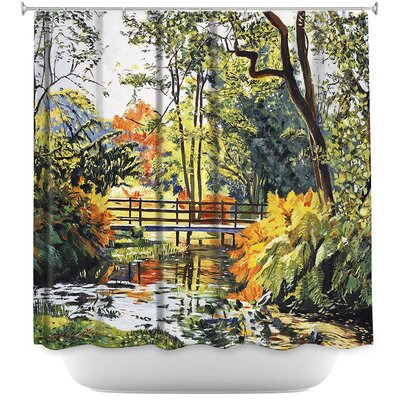 Autumn Water Bridge Shower Curtain