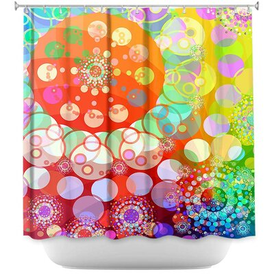 Merry Go Round I Shower Curtain Color: Red/Orange