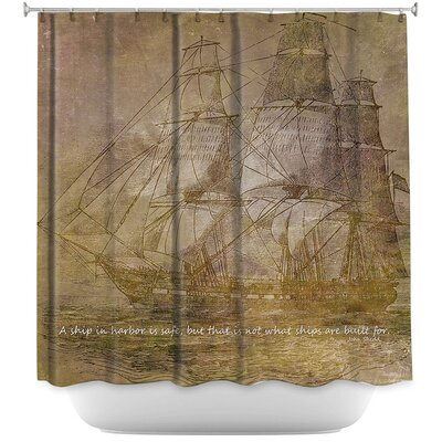Sailboat Quote 3 Shower Curtain