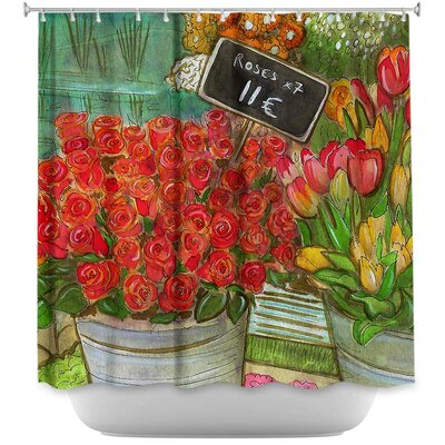 The Paris Flower Shop Shower Curtain