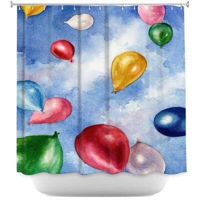 Balloons In Flight Shower Curtain