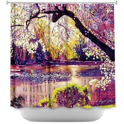Central Park Spring Pond Shower Curtain