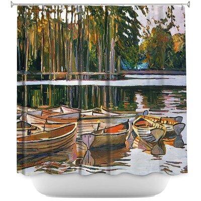 Lake Boats Paris Shower Curtain