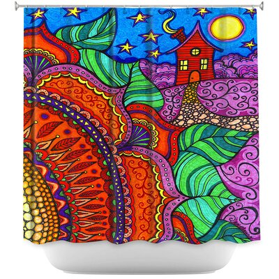 Evening Posy Shower Curtain