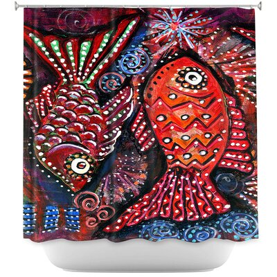 Two Funky Fish Shower Curtain