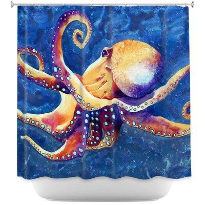 Adrift Octopus Shower Curtain