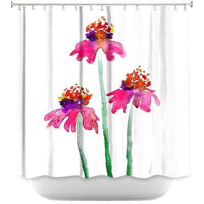Echinacea Flowers Shower Curtain