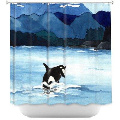 Orca Beach Shower Curtain