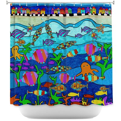 Hollon Little Houses Shower Curtain