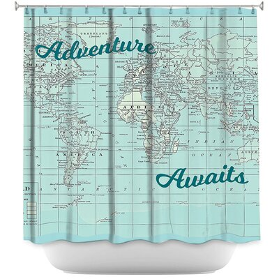 Lubbers Adventure Awaits Shower Curtain