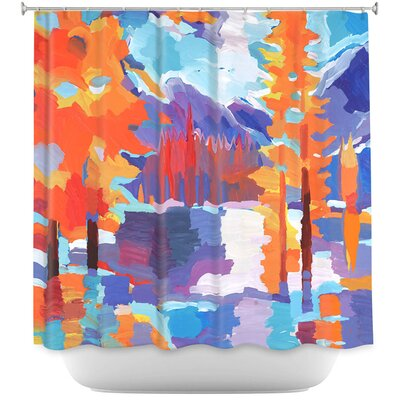 Flaming Foliage Longs Peak Shower Curtain