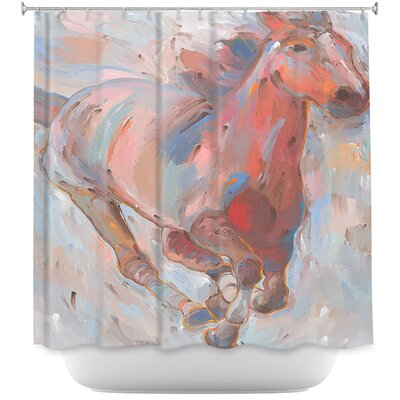 Hear the Pounding II Horses Shower Curtain