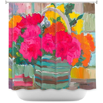 Locking Bouquet Flowers Shower Curtain