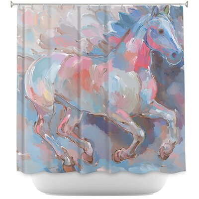 Ready to Soar II Horses Shower Curtain