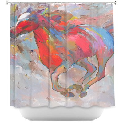 Smooth Runner I Horses Shower Curtain