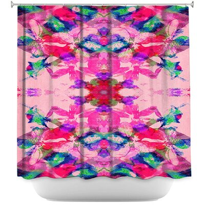 Boho Floral Shower Curtain