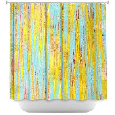 Locklin Correlation I Shower Curtain Color: Yellow/Green