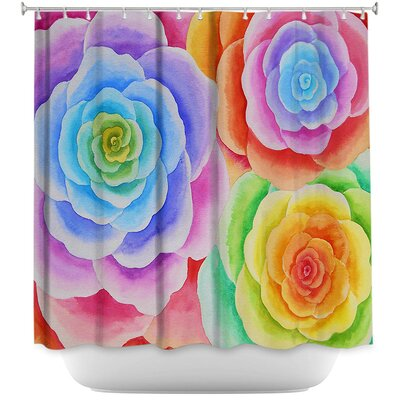 Joyous Flowers I Shower Curtain