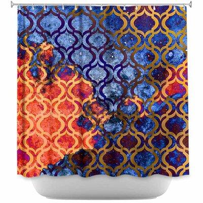 Sky I Shower Curtain Color: Orange/Blue