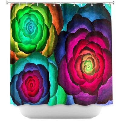 Joyous Flowers III Shower Curtain