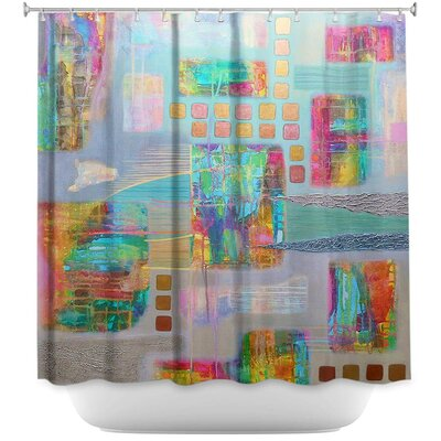 Bleed-Through II Shower Curtain