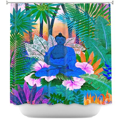 Buddha In the Jungle II Shower Curtain