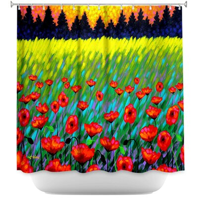 Poppy Vista II Shower Curtain