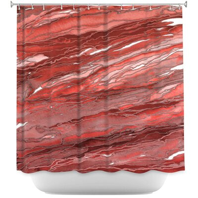Agate Magic Rust Shower Curtain Color: Red