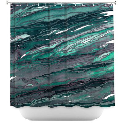 Agate Magic Rust Shower Curtain Color: Blue