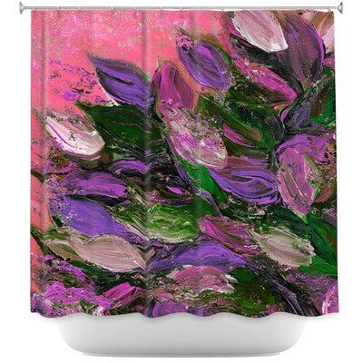 Blooming Beautiful I Shower Curtain Color: Purple