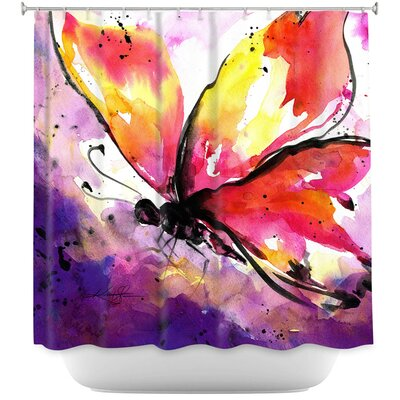 Cendejas Butterfly Abstract Shower Curtain
