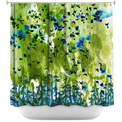 Were Better Lime Shower Curtain