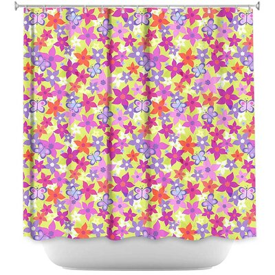 Happy Garden I Shower Curtain