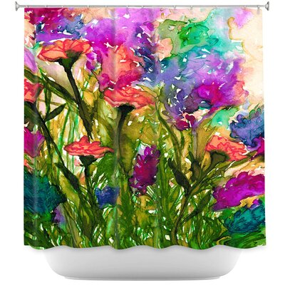 Luman Floral Insurgence II Shower Curtain