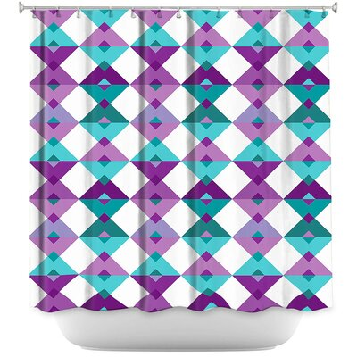 Triangles Pale Shower Curtain Color: Purple/Blue